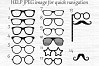 Glasses svg, Glasses clipart, Glasses svg file, Eyeglasses photobooth, Hipster glasses Svg, Glasses cut files, Party props, Hipster design example image 2