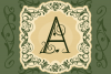 Leafy Monogram Font & Alphabet example image 5