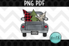 Merry Christmas Truck with 3 Trees example image 1