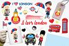 I Love London graphics and illustrations example image 1