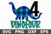 DinoFour - A Birthday SVG Cut file example image 2