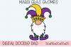 Mardi Gras Gnomes SVG, Silhouette and Cricut Cut Files example image 2