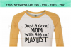 Just A Good Mom With A Hood Playlist SVG example image 3