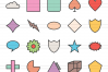 50 Shapes & Geometry Linear Multicolor Icons example image 2