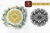 Round Mandala Garden Plant Water Pray SVG DXF example image 1