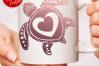 Valentines Sea Turtle Heart Mandala SVG DXF Cut Files example image 3