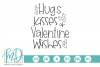 Valentines Day - Hugs Kisses And Valentine Wishes SVG example image 2