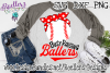 Busy Raising Ballers, Baseball with Red Bandana, an SVG file example image 1