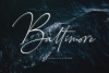 Baltimore // Straight Signature Font example image 16