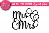 Mrs & Mrs cake topper - SVG - DXF - PNG Cut Files example image 1
