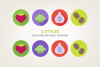 Round Vegetables Icons example image 4