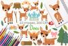 Does Deer Clipart, Instant Download Vector Art example image 1