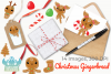 Christmas Gingerbread Clipart, Instant Download Vector Art example image 4