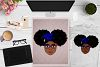 BUNDLE Afro Girl, Afro Girl Face, BAE, BHM SVG Cut File example image 9