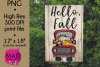 Hello Fall - Pickup Truck - Garden Flag PNG example image 1