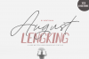 August Bold&LENGKING SLANT Font duo example image 7