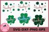 Clover Grunge Svg, Clover Svg, Lucky, Truck Shamrock SVG example image 1