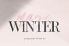 Magic Winter - A Serif/Script Handwritten Font Duo example image 22
