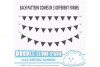 Black Lace Burlap Bunting Banners Cliparts multiple lace texture flags Dark Gothic Bunting Transparent Background Personal & Commercial Use example image 3