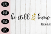 Be Still and Know SVG | Prayer SVG |Christian SVG example image 1