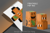 Pumpkins Treat Boxes Templates PDF files - 2 size - 2 style example image 5