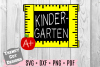 Kindergarten Grade Ruler Frame, Back to School example image 1