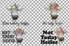 Not today Heifer printable shirt, mug, card floral cow png example image 2