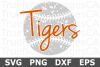 Tigers Grunge Baseball - A Sports SVG Cut File example image 2