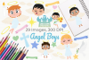 Angel Boys Clipart, Instant Download Vector Art example image 1