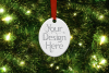 Oval Christmas Ornament Mockup, Sublimation Mock-Up, PSD example image 3