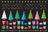 Colorful Christmas Tree Party Clip Art Set example image 8