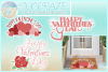 Happy Valentines Day Hearts And Roses Mini Bundle SVG example image 1
