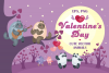 Valentines Day. Cute animals. example image 1