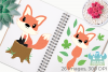 Fox Girls Clipart, Instant Download Vector Art example image 3