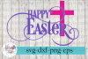 Happy Easter Cross SVG Cutting Files example image 1
