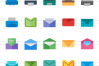 26 Email & Printer Flat Multicolor Icons example image 2