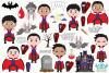 Vampire Boys Clipart, Instant Download Vector Art example image 2
