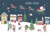 Holiday village clipart and paper example image 1
