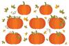 Fall Pumpkins Clip Art Set example image 2