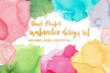 Watercolor Design Set - Backgrounds, Brushes & Patterns example image 1