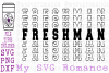 Freshman - Word Mirror SVG PNG DXF High School Freshman example image 1