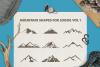 Mountain Shapes For Logos Vol 1 / Mountain Silhouette / Logo example image 1