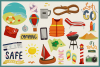 85 Traveling Vector Clipart & Seamless Patterns example image 3