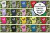 Gildan 64000L Ladies T-Shirt Camping Mockup Bundle Flat Lay example image 1