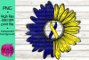 Down Syndrome Awareness - Rustic Sunflower Ribbon example image 1