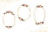Geometric Gold Frames, Floral Crystal Frames, Pink Frames example image 4