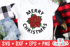 Merry Christmas Poinsettia | Christmas SVG Cut File example image 1