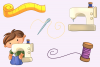 Cute Sewing Clip Art Collection example image 3