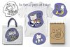 Zodiac Signs Cute Cat Vector Set. Astrological Symbols example image 3