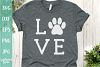 Love with Pawprint - Dog SVG File example image 1
